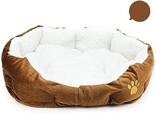 Wakerda Deluxe Soft Hund House Plüsch Hund Haustierbett, Gepolstert Warm Korb Bett Kissen mit Fleece Futter Verdickte Anti-Dirty Größe 46* 42cm (Kaffee)