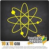 KIWISTAR Aufkleber - Atom Symbol Zeichen - Autoaufkleber Sticker Bomb Decals Tuning Bekleben