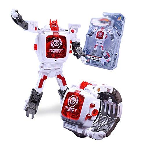 Enfant Montre Robot créatif de transformation manuelle Jouets Enfants Montre électronique Développement Intelligence Déformé Robot Jouet