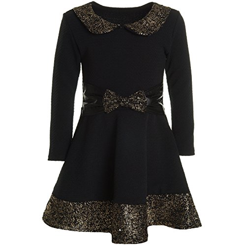 (BEZLIT Mädchen Kinder Spitze Winter Kleid Peticoat Fest Lang Arm Kostüm 20914 Schwarz Größe 128)