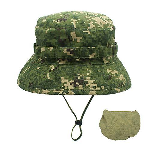 er Baumwolle Hut Ultraleichter schnelltrocknender Hut Sport Wander Laufmütze Deckel im Freien,Digitale Grasgrüntarnung im Freien einstellbar ()