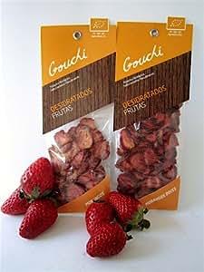 Fraises séchées Biologique Gouchi 30 g x 3 - 90 g