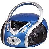 Trevi CMP 542 USB Analogique 6W Bleu radio CD - radios CD (Analogique, AM,FM, CD, 6 W, LCD, AC/Batterie)