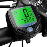 Sport Wireless Cycle Computer Automatic Wake-up Bike Computer with Backlight LCD for Bicycle Enthusiasts (Black)