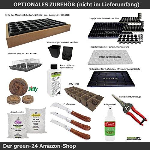 GREEN24 100 St. Jiffy Original Quell-Tabletten Torf-Quelltöpfe 44mm Aussaaterde Anzuchterde Torftablette mit Anleitung - 5