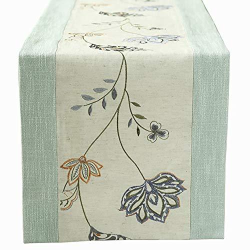 Chemin de table Coton et Lin, Respirant, Hygroscopique, Convient pour Table de Salle à Manger/Table Basse/Cabinet (Taille : 35×180cm)