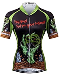 Thriller Rider Sports® Mujer Horror Halloween Deportes y Aire Libre Maillot Manga Corta de Ciclismo X-Large