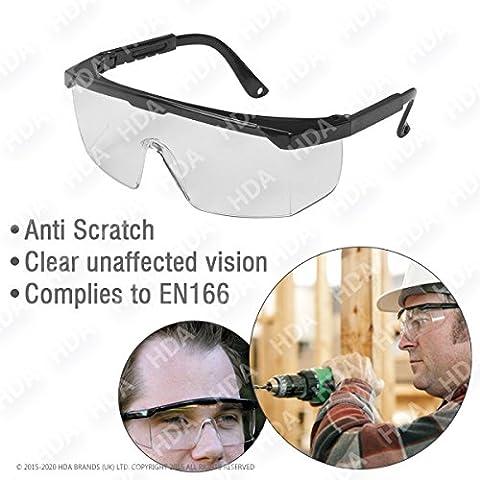Gafas de seguridad con estándar transparente espejada Ojos de protección para interior/exterior General use-lightweight & Clear