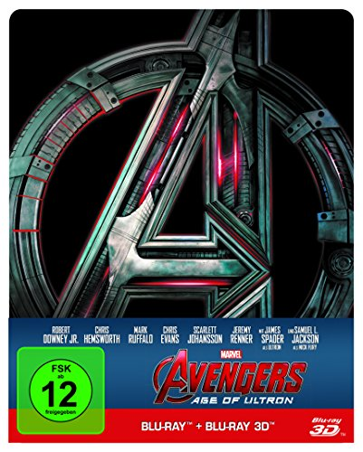 Avengers: Age of Ultron - Steelbook [Limited Edition] (+ Blu-ray) [Blu-ray 3D] (Avengers Thor 2)