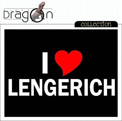 T-Shirt mit Städtenamen - i Love Lengerich - Herren - unisex Schwarz