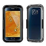 Banath Wasserdichte Hülle Samsung Galaxy S6 G9200/S6 Edge G9250, IP68 Zertifiziert Wasserdichte Stoßfest Schutzhülle Ganzkörper Rugged Schale Case(Schwarz)