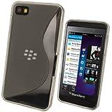 igadgitz Zweiton Transparent Klar dauerhafte Kristall TPU Gel Schutzhülle Etui Case Tasche Hülle für BlackBerry Z10 Smartphone + Displayschutzfolie