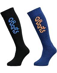 BARTS - Lot de 2 paires chaussettes de ski noir et bleu enfant du 23 au 34 Barts