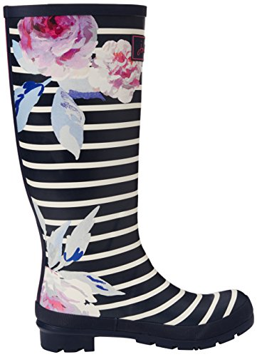Joules - Wellyprint, Stivali da pioggia Donna Blue (Navy Bloom Stripe)