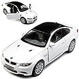 alles-meine.de GmbH BMW 3er E92 M3 Coupe Weiss mit Karbon Dach 2005-2012 ca 1/43 1/36-1/46 Kinsmart Modell Auto mit individiuellem Wunschkennzeichen