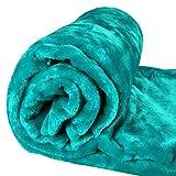 Asab Luxuriöse Plüschdecke aus Kunstnerz, super weich und warm, großer Überwurf für Bett, Sofa, Möbel-Dekor,150x 200cm blaugrün