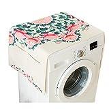 lavadora y nevera cubierta de tela de polvo con bolsa de almacenamiento de protección solar protectora de color, flor #35