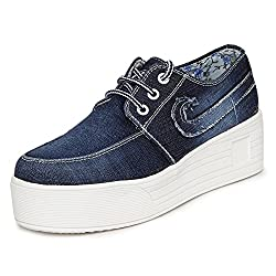 1 WALK MAPPLE COLLECTION ORIGINAL COMFORTABLE STYLISH WOMEN SHOES /SNEAKERS/COLLEGE WEAR/2018 LATEST COLLECTION/PARTY WEAR/CASUAL WEAR/WEEDING WEAR-Blue-K210A-41