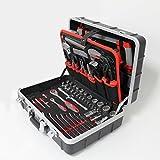 Tixit ABS-Werkzeugkoffer 'Professional' | 150-teilig | mit hochwertigem ABS-Koffer | herausnehmbare Werkzeugabteile