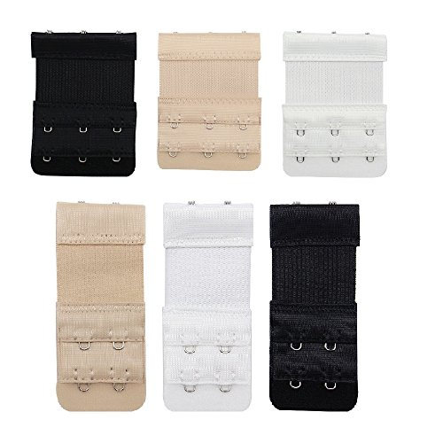 Price comparison product image SelfTek 6Pcs Bra Hooks Extension Strap for Women and Ladies