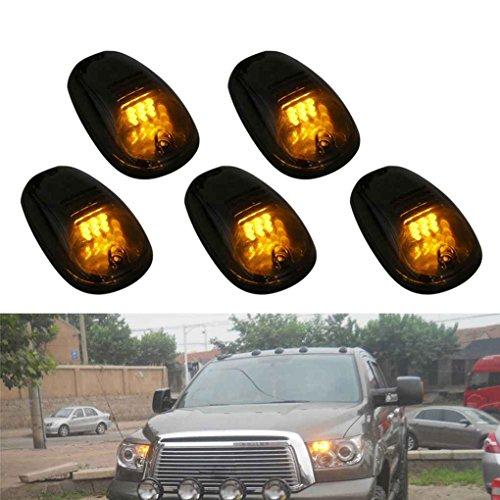 Floridivy 9 LED T10 Orange Lampes Cabine Marche Feux de gabarit fumée Cache-Objectif avec Interrupteur pour Pick-up SUV Off Road