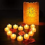 MOHOO 12PCS Lumières Bougies LED Bougie Electronique Lumière Réaliste et Bright Sans Flamme LED lampe ambrée avec Piles Décoration de Noël Maison Mariage Anniversaire Soirée Fête (#1)