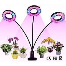 VOVOVO Lámpara de Plantas 30W Función de Temporizador Cíclico Lámpara LED Plantas Crecimiento Interior Niveles Regulables