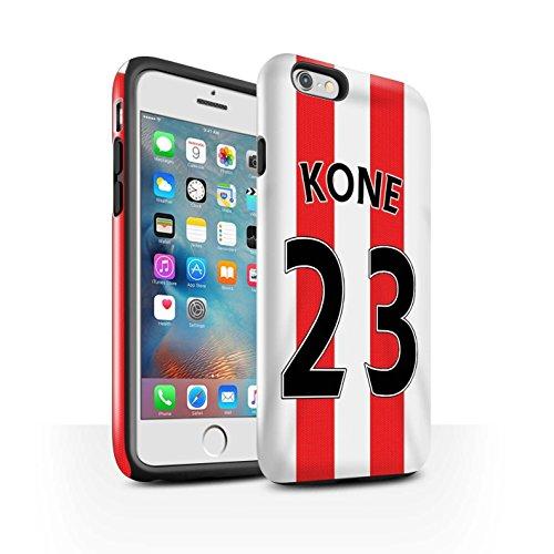 Offiziell Sunderland AFC Hülle / Glanz Harten Stoßfest Case für Apple iPhone 6S+/Plus / Pack 24pcs Muster / SAFC Trikot Home 15/16 Kollektion Kone