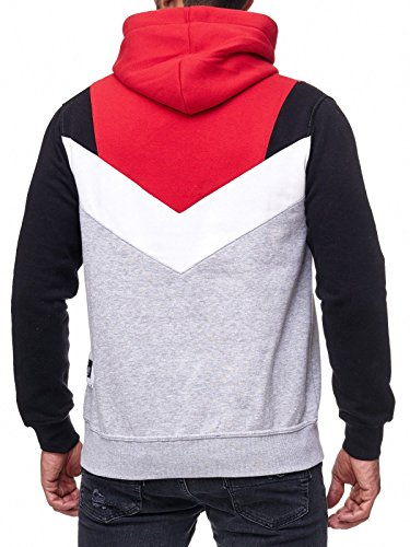 Rusty Neal Sweatshirt Mix Herren Sweat Hoody Kapuze Reißverschluss 19047 Rot