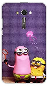 Crazy Beta MINIONS 3D DESIGN Printed Back Cover For Asus Zenfone 2 Laser ZE 550KL