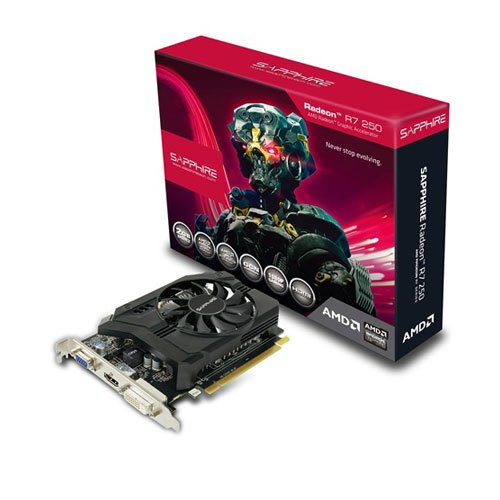 Sapphire 11215-01-20G 250 R7 Series ATI Grafikkarte (PCI-e 3.0, 2GB GDDR3-Speicher, D-Sub, DVI-D, HDMI, 1000MHz GPU)
