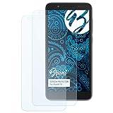 Bruni Schutzfolie für Alcatel 1X Folie, glasklare Bildschirmschutzfolie (2X)