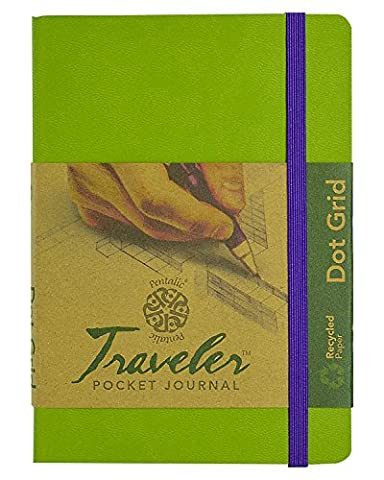 Travelers Dot Grid Journal 6X4 Olive Green