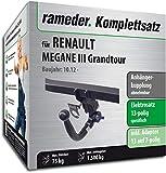 Rameder Komplettsatz, Anhängerkupplung abnehmbar + 13pol Elektrik für Renault Megane III Grandtour (117269-08145-2)