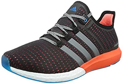 adidas Men's Cc Gazelle Boost M Black and Red Mesh Sneakers - 12 UK