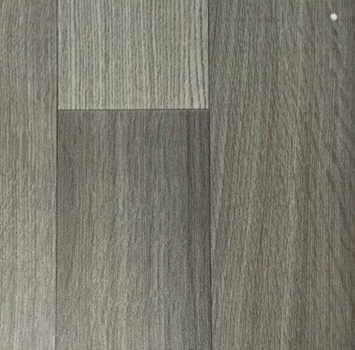 PVC Vinyl-Bodenbelag in der Optik grau anthrazit Holz Planke | PVC-Belag verfügbar in der Breite 400 cm & in der Länge 600 cm | CV-Boden wird in benötigter Größe als Meterware geliefert