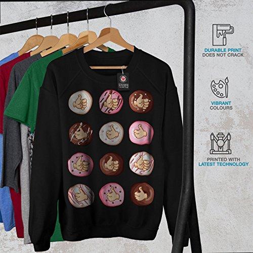 Comme Beignet Déchet Manger Aliments Femme S-2XL Sweat-shirt | Wellcoda Noir