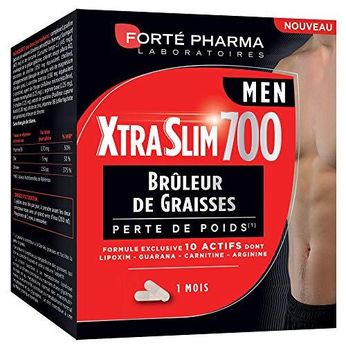 Forté Pharma XtraSlim 700 Men 120 Gélules | Brûleur de Graisses Hommes | Programme Perte de Poids