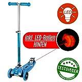 Powerslide WORX Movemax TESTSIEGER Scooter Blau LED-Edition