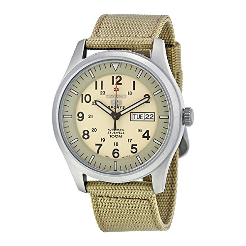 seiko-snzg07k-1-5-sports-mens-automatic-watch-analogue-dial-fabric-strap-beige-beige