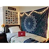 Handicrunch Twin Hippie Star Tapestries , Psychedelic Tapestry ,Sun and Moon Tapestry,star Mandala Tapestries, Throw Bedspread Queen Bed Dorm Decor