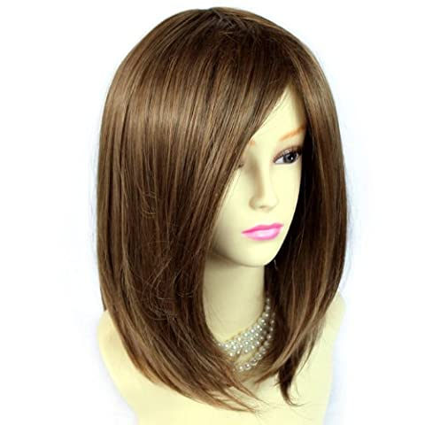 Faceframe Dark Brown mix Blonde Medium Wig Bob Style Ladies Wigs UK