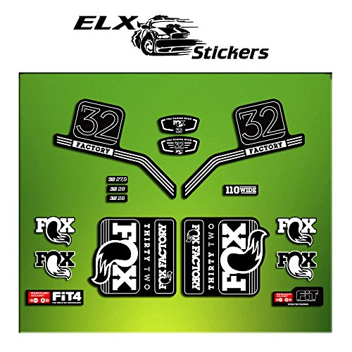 Pegatinas HORQUILLA FORK FACTORY FOX 32 2016 ELX13 STICKERS AUFKLEBER AUTOCOLLANT ADESIVI BICICLETA CYCLE MTB BIKE