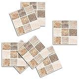 Adhesivo para azulejos Pared Cocina Pegatinas de Vinilo Art Wall Decal para salón dormitorio TV fondo Inicio-Sencillo Vida, Patrón D