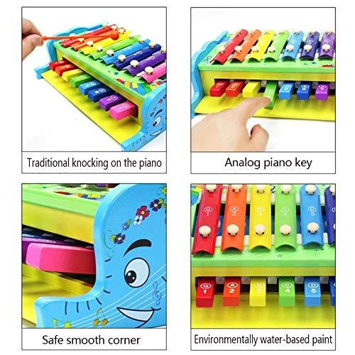 Rclhh Xylophone 8-Notes Clavier Instrument de Musique en Bois 2 en 1 frappant Xylophone Instruments pour la Petite enfance Img 1 Zoom