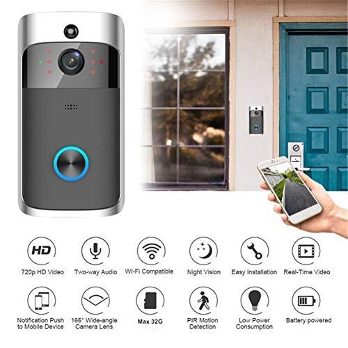 DVCZ 720P HD Wireless Video Türklingel WiFi Gegensprechanlage Elektronische Haussicherheit Sichtbare Monitor Nachtsicht Türsprechanlage