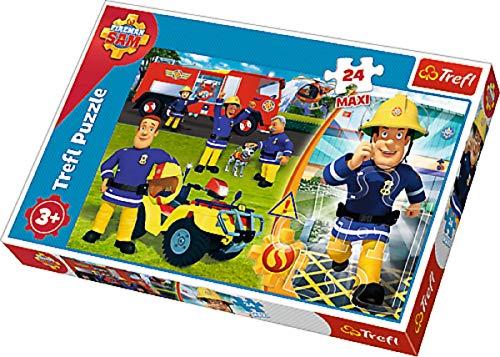ollection Kinder Puzzle Puzzles Maxi XL Brave Fireman Feuerwehrmann Sam Motiv 24 Teile ab 3 Jahre Geschenk Idee für Mädchen Jungen Ostern Geburtstag Weihnachten Mitbringsel ()