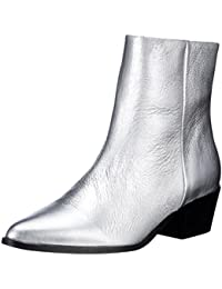 PIECES Pspedrine Leather Boot Silver - Botines Mujer