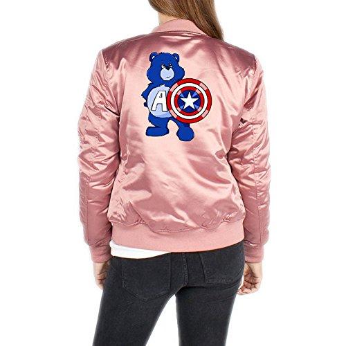 Captain Bear Bomberjacke Girls Rosa Certified Freak-L