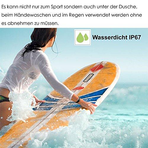 AsiaLONG Fitness Tracker mit Pulsmesser, Schrittzähler Uhr Fitness Armband Wasserdicht Aktivitätstracker mit Schlafmonitor, herzfrequenz, Kalorienzähler, Vibrationsalarm Anruf SMS Whatsapp Beachten mit IOS Android Smartphones (Upgrade Version) - 2